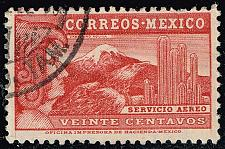 Buy Mexico #C68 Eagle Man & Popocatepelt Volcano; Used (3Stars) |MEXC068-02XRS