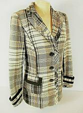 Buy Maurices womens Small L/S brown white plaid WOOL blend button LINED jacket (B8)