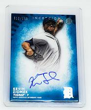 Buy MLB KEVIN ZIOMEK DETROIT TIGERS AUTOGRAPHED 2015 TOPPS INCEPTION /150 MINT