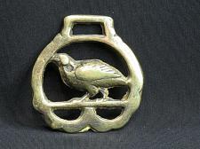 Buy Vintage Bird Horse Brass Pheasant Bob White Quail Partridge Medallion Harness
