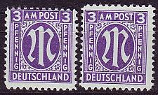 Buy GERMANY Alliiert AmBri [1945] MiNr 0017 b A,B ( **/mnh )