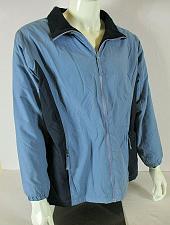 Buy ATHLETECH womens 1X L/S blue TWO TONED full zip 2 pocket fleece lined jacket (Y)
