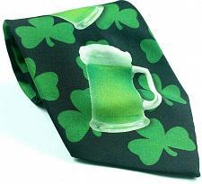 Buy Ralph Marlin St Patrick's Day Green Beer Mugs Shamrock Irish Novelty Necktie