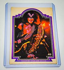 Buy VINTAGE KISS LIVE GENE SIMMONS 1978 AUCOIN ROCK MUSIC COLLECTORS CARD #40 GD/VG