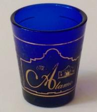 "Buy The Alamo Cobalt Blue 2.25"" Collectible Shot Glass (3-59)"