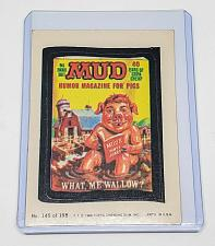 Buy VINTAGE 198O Topps Wacky Packages MUD HUMOR MAGAZINE FOR PIGS #145 NMNT