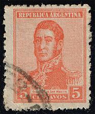 Buy Argentina #253 Jose de San Martin; Used (0.25) (1Stars) |ARG0253-08XBC