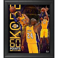 """Buy Los Angeles Lakers Kobe Bryant Fanatic Authentic Framed 15"""" x 17"""" 60 Point Final"""