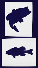 Buy Large Bass (fish) Stencils -2 pc set-Mylar 14mil - Painting /Crafts/ Templates