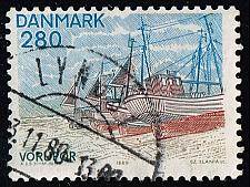 Buy Denmark #669 Fishing Boats at Vorupor Beach; Used (2Stars) |DEN0669-01XBC
