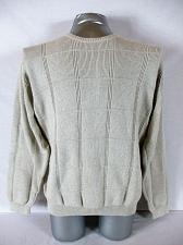 Buy ARROW mens Large L/S tan TEXTURED 100% cotton HEAVY sweater (A7)P