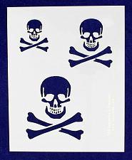 "Buy Skull Stencil 14 Mil- 2"", 3"", 4"" -1 Sheet-Painting /Crafts/ Templates"