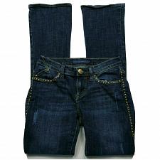 Buy Rock & Republic Womens Kasandra Boot Cut Jeans Size 2 Dark Wash Jeweled Denim