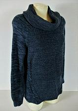 Buy CROFT & BARROW womens Medium L/S navy blue COWL NECK sweater (B7)