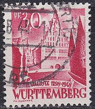 Buy GERMANY Alliiert Franz. Zone [Württemberg] MiNr 0023 y I ( O/used )