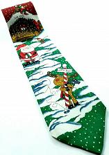 Buy Hallmark Santa Reindeer Elf Playing Golf North Pole Christmas Novelty Tie