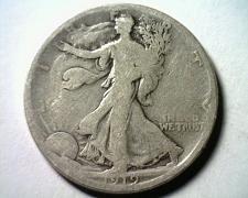 Buy 1919-D WALKING LIBERTY HALF DOLLAR GOOD+ G+ NICE ORIGINAL COIN FROM BOBS COINS