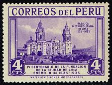 Buy Peru #325 Lima Cathedral; Unused (0.60) (2Stars) |PER0325-02XRS