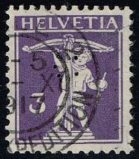 Buy Switzerland #150 William Tell's Son; Used Perfin (0.75) (3Stars) |SWI0150-03XRS