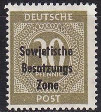 Buy GERMANY Alliiert SBZ [Allgemein] MiNr 0208 ( **/mnh )