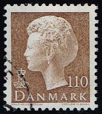 Buy Denmark #632 Queen Margrethe; Used (4Stars) |DEN0632-01XBC