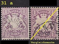 Buy GERMANY Bayern Bavaria [1874] MiNr 0031 a ( O/used ) [01]