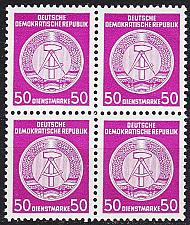 Buy GERMANY DDR [Dienst A] MiNr 0026 I 4er ( **/mnh )