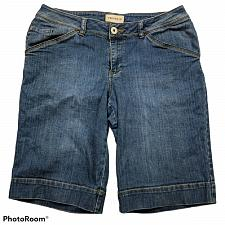 Buy Venezia Womens Bermuda Jean Shorts Size 14 Medium Wash Blue Denim Stretch