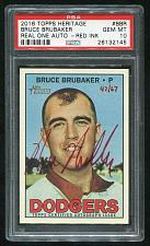 Buy 2016 TOPPS HERITAGE REAL ONE RED AUTO BOB BRUCE PSA 10 GEM MINT (26132144)