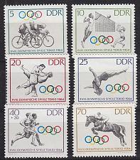 Buy GERMANY DDR [1964] MiNr 1033-38 ( **/mnh ) Olympiade