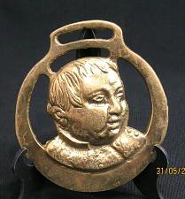 Buy Vintage Fat Boy Horse Brass Medallion Harness Charles Dickens