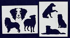 "Buy Austrialian Shepard Dog Stencils-Mylar 2 Pieces of 14 Mil 8"" X 10"" - Painting /C"