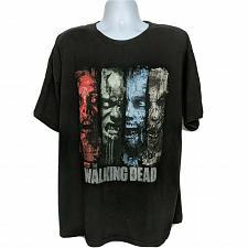 Buy The Walking Dead AMC Zombie Walker Faces T-Shirt 2XL Black Short Sleeve