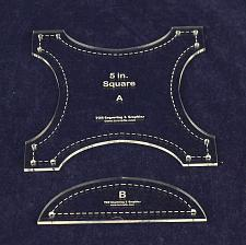 """Buy Robbing Peter to Pay Paul 5""""- 2 pc Quilting Template Set-Acrylic 1/8"""""""