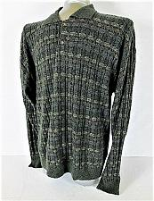 Buy GRANT THOMAS mens Large MULTI COLOR CHECKS TEXTURED POLO SWEATER (K)P