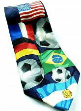 Buy International Soccer United States Germany UK China Brazil Polyester Novelty Tie