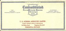 Buy Vintage Ink Blotter Consolidated Insurance Hough Agency Toronto ON Canada
