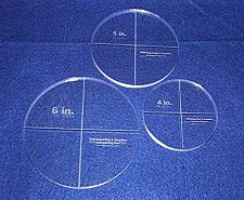 """Buy Circle Template 3 Piece Set. 4"""",5"""", 6"""" - Clear ~3/8"""" Thick"""