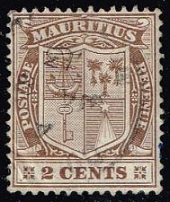 Buy Mauritius #138 Coat of Arms; Used (0.25) (1Stars) |MAU0138-06XRS