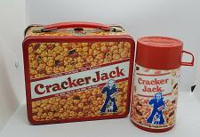 Buy VINTAGE CRACKER JACK METAL LUNCH BOX W/ THERMOS ALADDIN 1979