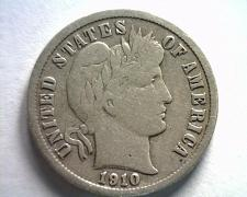 Buy 1910-S BARBER DIME FINE F NICE ORIGINAL COIN FROM BOBS COINS FAST SHIPMENT