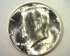 Buy 1964 KENNEDY HALF DOLLAR GEM UNCIRCULATED GEM UNC. NICE ORIGINAL COIN BOBS COINS