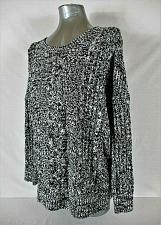 Buy EXPRESS womens Small L/S black white HI LOW lightweight CABLE KNIT sweater (B2)P
