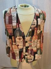 Buy Mens Tapestry Vest Size XL 44 Chest Party Bartender Wine Bottle Theme