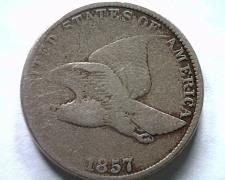 Buy 1857 FLYING EAGLE CENT PENNY VERY FINE VF NICE ORIGINAL COIN FROM BOBS COINS