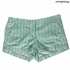 Buy J Crew Womens Chino Shorts Size 10 Green White Herringbone Pockets