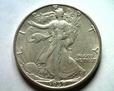 Buy 1939-S WALKING LIBERTY HALF DOLLAR ABOUT UNCIRCULATED AU NICE ORIGINAL COIN