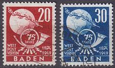 Buy GERMANY Alliiert Franz. Zone [Baden] MiNr 0056-57 ( O/used ) [02] Post