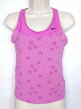 Buy Nike Women's Tank Top Small Pink Geometric Athletic Sleeveless Shelf Bra