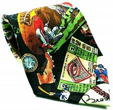 Buy Vintage 1993 Nicole Miller Football Hockey Golf Tickets Baseball Sports Necktie